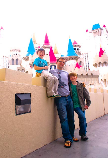 Cute Family Excaliber Las Vegas